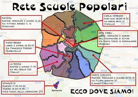 Ecco la Rete Scuole Popolari un'assemblea di confronto e crescita di scuole popolari e territori.