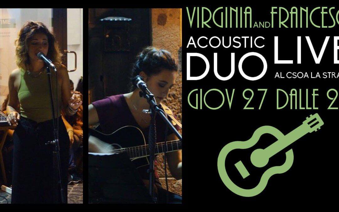 Virginia&Francesca – Acoustic Duo Live