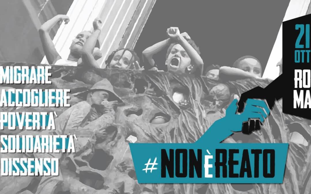 21 Ottobre in piazza a Roma: #Nonèreato!