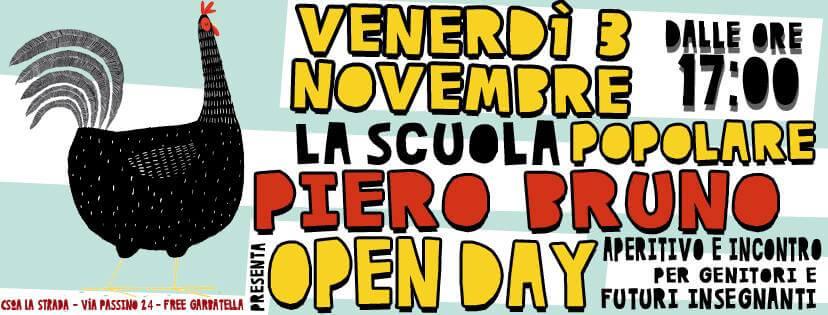 Open Day alla Scuola Pop Piero Bruno – Non Mancare!