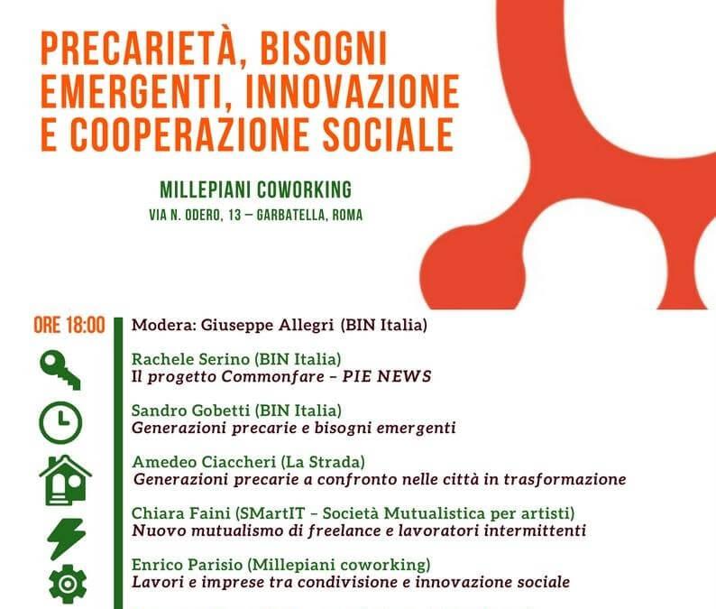 Commonfare a Roma: precarietà e innovazione sociale