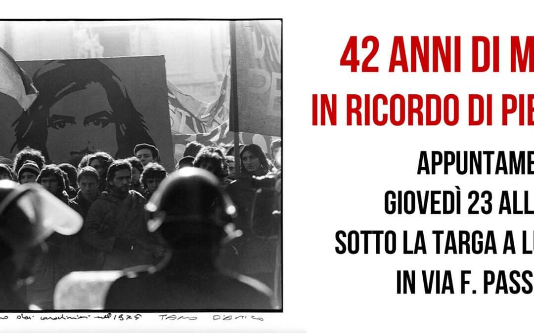 42 Anni di Memoria – In Ricordo di Piero Bruno