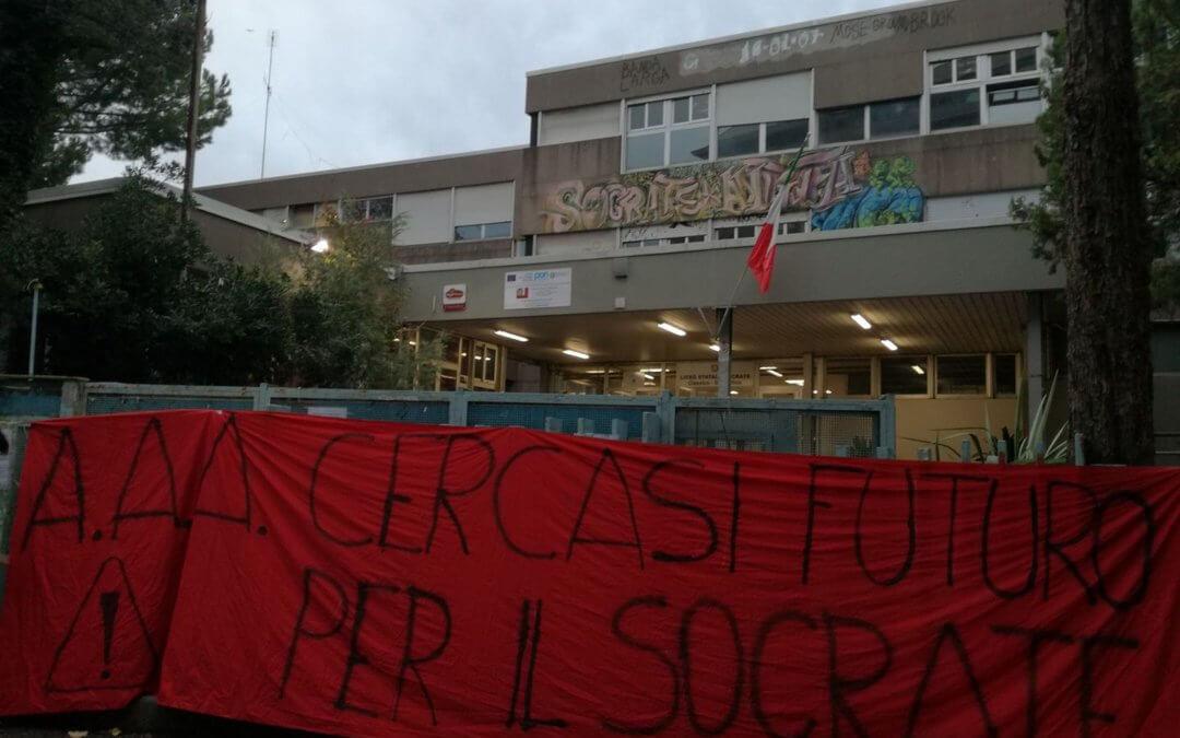 """Dopo le Mobilitazioni degli Studenti Concessione di 6 aule del plesso """"Odescalchi"""" al Liceo Socrate"""