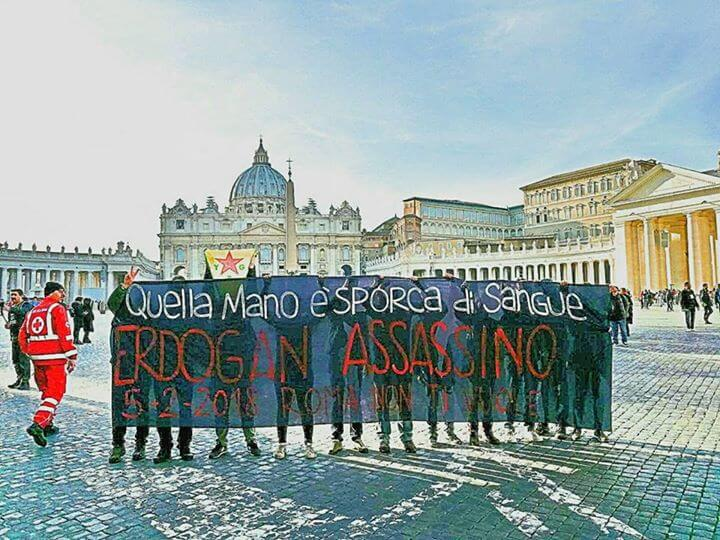 Erdogan Not Welcome, Roma non ti vuole