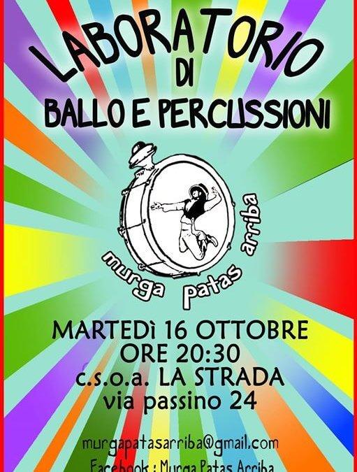 Laboratorio di ballo e percussioni – murga argentina