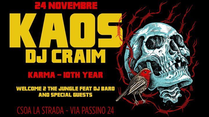 Kaos & DJ Craim – kARMA 10th Year Tour + W2TJ, Dj Baro & guests