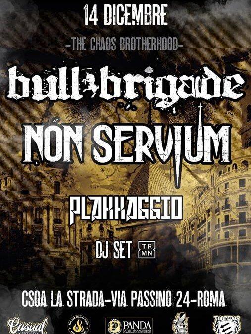 "Bull Brigade e Non Servium Live – ""The Chaos Brotherhood"" + Plakkaggio"