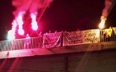 Roma è con chi combatte l'isis. Forza YPG/YPJ, Forza Rojava!